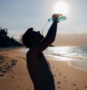 Drinking water beach