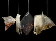 Bags of different types of tea